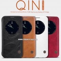 Samsung S7 Edge - เคสฝาพับหนัง Nillkin QIN Leather Case แท้