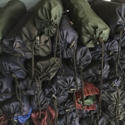 เปล ผ้าร่ม พร้อมเชือก สีพื้น คละสี ผืนละ 75 บาท ส่ง 100ผืน