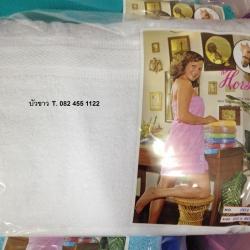 ผ้าห่มขนหนู Cotton 100% 60x80นิ้ว (5ฟุต) สีพื้น 2.7ปอนด์ ผืนละ 265บาท ส่ง 50ผืน