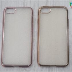 iPhone 7 - เคสใสขอบสีเมทัลลิก TPU