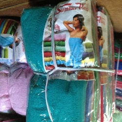 ผ้าขนหนู Cotton100% ผ้าเช็ดตัว ปักเข้ม 11.5ปอนด์ คละสี 30*60นิ้ว โหลละ 1550บาท ส่ง 10โหล