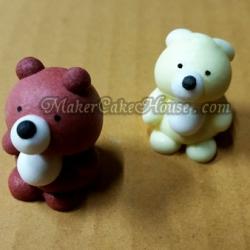 ตุ๊กตาไอซิ่งรูปหมีน่ารัก ( 20 ชิ้น )