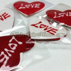 กัมเพสรูปหัวใจ และคำว่า Love ( 5 ชิ้น )