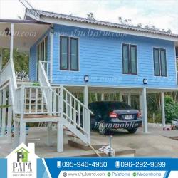 บ้านโมบายขนาด 9*4 เมตร (1ห้องนอน 1ห้องน้ำ 1ห้องนั่งเล่น)