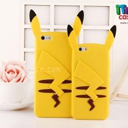 iPhone 5 / 5s / SE - เคสซิลิโคน Pikachu หูตั้ง (Pokemon)