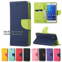 Samsung Galaxy S7 Edge - เคสฝาพับ Mercury Goospery Fancy Leather Case cover แท้