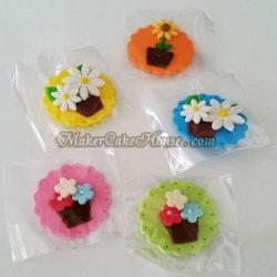 กัมเพสแผ่นรูปดอกไม้ ( 5 ชิ้น )