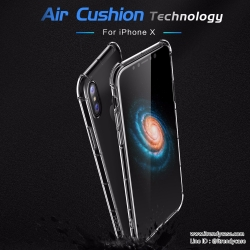 iPhone X - เคสใส Rock Fence S Series TPU Soft Air Cushion แท้