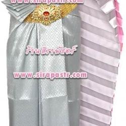 ชุดผ้าไทย TB-7 ชุดสีเทา (สไบ+ผ้าฯ*แบบจับสด) *รายละเอียดในหน้าสินค้า