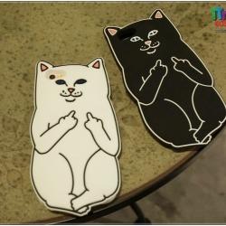iPhone 7 - เคสซิลิโคน ลายแมวสุดกวน