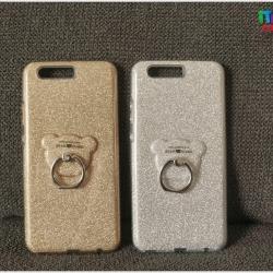 Huawei P10 Plus - เคสหลังฟรุ้งฟริ้ง พร้อมที่ตั้งแหวนด้านหลังรูปหมี น่ารักมาก
