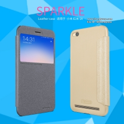 Xiaomi Redmi 5A - เคสฝาพับ Nillkin Sparkle leather case แท้