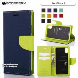 iPhone X - เคสฝาพับ Mercury Goospery Fancy Leather Case cover แท้