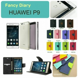 Huawei P9 - เคสฝาพับ Mercury Goospery Fancy Leather Case cover แท้