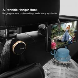 HOCO CA18 CAR BACKREST MAGNETIC HOLDER ตั้งมือถือในรถแบบเสียบหัวเบาะพนักพิง แท้