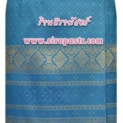 ผ้าถุงป้ายข้าง-สั้น สีฟ้าเข้ม (เอวใส่ได้ถึง 32 นิ้ว) รายละเอียดสินค้าในหน้าฯ