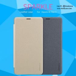 Xiaomi Mi Max 3 - เคสฝาพับ Nillkin Sparkle leather case แท้