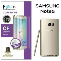 Samsung Note5 (เต็มจอ) - ฟิล์มเต็มจอลงโค้ง Focus (CURVED FIT TPU) แท้