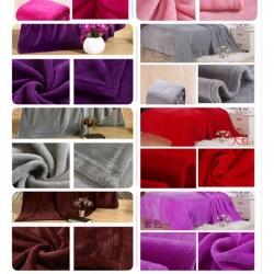 ผ้าห่มนาโน สีพื้น หนา 6ฟุุต ผืนละ 160บ ส่ง 40ผืน