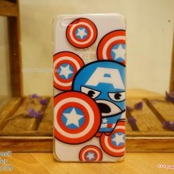 iPhone 6 Plus / 6s Plus - เคสใส The Avengers (Captain America Big)
