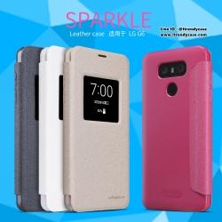 LG G6 - เคสฝาพับ Nillkin Sparkle leather case แท้