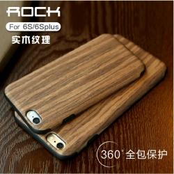 iPhone 6, 6s - ROCK เคสลายไม้ TPU (แท้)