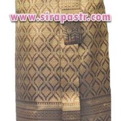 ผ้าถุงป้าย-หน้านาง A1-4A สีทองขมิ้น (เอวใส่ได้ถึง 26 นิ้ว) *แบบสำเร็จรูป-รายละเอียดตามหน้าสินค้า