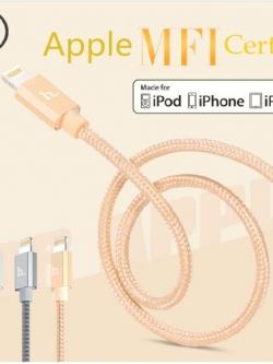 สายชาร์จ Hoco UPF01 Metal MFI หัว iPhone 5s, 6s, 6s Plus แท้