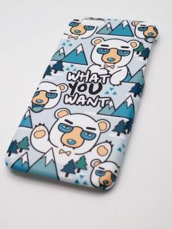 มีทุกรุ่น เคสสกรีน ลายคมชัด ผิวด้าน ลายจัดเต็มถึงขอบ - ลายหมีขาวใส่แว่น