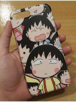 iPhone 8 Plus / 7 Plus - เคส TPU ลาย Chibi Maruko หนูน้อยจอมซ่า มารูโกะ