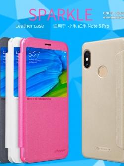 Xiaomi Redmi Note 5 - เคสฝาพับ Nillkin Sparkle leather case แท้