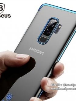 Samsung S9 Plus - เคสใสขอบสี PC Luxury Glitter Case แท้