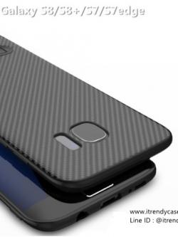 Samsung S7 Edge - เคส TPU ลายเคฟล่า Carbon พร้อมขาตั้ง TOTU DESIGN แท้