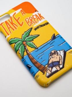 มีทุกรุ่น เคสสกรีน ลายคมชัด ผิวด้าน ลายจัดเต็มถึงขอบ - ลายชายหาด Take A Break