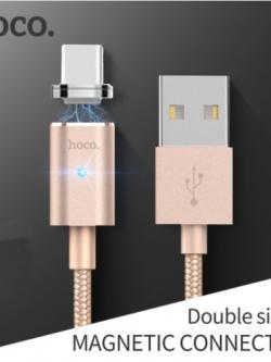 HOCO U16 สายชาร์จหัวแม่เหล็ก Magnetic cable 120cm (USB Type-C / Android) แท้