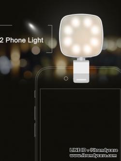ROCK ไฟส่องเซลฟี่ O2 Phone Light 8LED Flash ใช้ได้กับ Smart Phone และ Tablet ทุกรุ่น แท้
