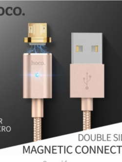 HOCO U16 สายชาร์จหัวแม่เหล็ก Magnetic cable 120cm (Android / Micro USB) แท้