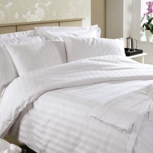 ผ้าปูที่นอน รัดมุม12นิ้ว ผ้าCotton100% 250เส้นด้าย สีขาว 5ฟุต 1ชิ้น ผืนละ 630 บาท ส่ง 20ผืน