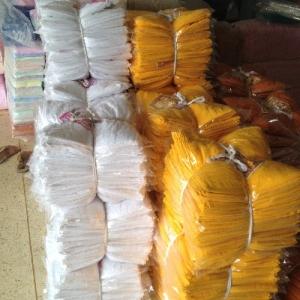 ผ้าขนหนู Cotton100% ผ้าเช็ดหน้า สีเหลือง/กรัก 30*60 นิ้ว โหลละ 1495 บาท ส่ง 10โหล