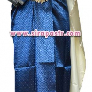 ชุดผ้าไทย BB สีน้ำเงิน (สไบ+ผ้าฯยาว 4 หลา*แบบจับสด) รายละเอียดในหน้าสินค้า