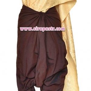 ชุดผ้าไทย R4-3 (สไบผ้าลาย+ผ้าพื้น-สีน้ำตาล *แบบจับสด) รายละเอียดในหน้าสินค้า
