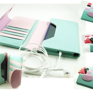 กระเป๋าหนังด้านสีสันน่ารัก ใส่มือถือได้