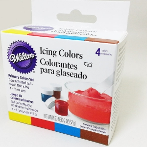 4 Icing colors ( Wilton ) สีผสมอาหารหรือเบเกอรี่