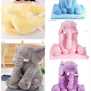 หมอนผ้าห่ม ช้าง ตัวใหญ่ ตัวละ 260บ ส่ง 50ตัว