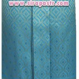 """ผ้าถุงป้าย-หน้านาง B1 สีฟ้า (เอวใส่ได้ถึง 27"""") *แบบสำเร็จรูป-รายละเอียดในหน้าสินค้า"""