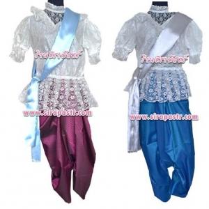 ชุดผ้าไทย T-R5 (เสื้อลูกไม้+ผ้าพาด+ผ้าฯ 4 หลา*แบบจับสด) *รายละเอียดในหน้าสินค้า