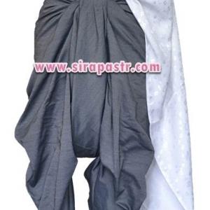 ชุดผ้าไทย R4-4 (สไบผ้าลาย+ผ้าพื้น-สีน้ำตาล *แบบจับสด) รายละเอียดในหน้าสินค้า สำเนา
