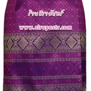 ผ้าถุงป้ายข้าง-สั้น สีชมพู-ม่วง (เอวใส่ได้ถึง 36 นิ้ว / 40 นิ้ว) รายละเอียดสินค้าในหน้าฯ