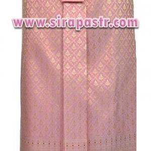 """ผ้าถุงป้าย-หน้านาง B7-4 สีชมพูโอรส (เอวใส่ได้ถึง 31""""/33"""") *แบบสำเร็จรูป-รายละเอียดตามหน้าสินค้า"""