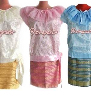 ชุดไทย ร.7 เสื้อฯ+ผ้าถุงป้ายข้าง(สั้น)สำเร็จรูป *รายละเอียดในหน้าสินค้า